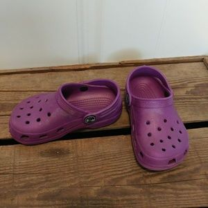 Crocs purple toddler slip ons